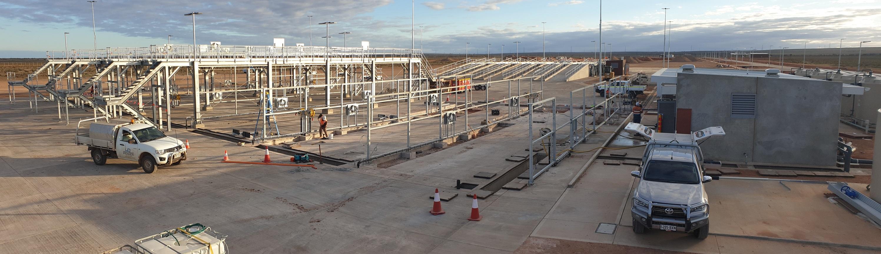 Australia's largest wash bay at Cultana