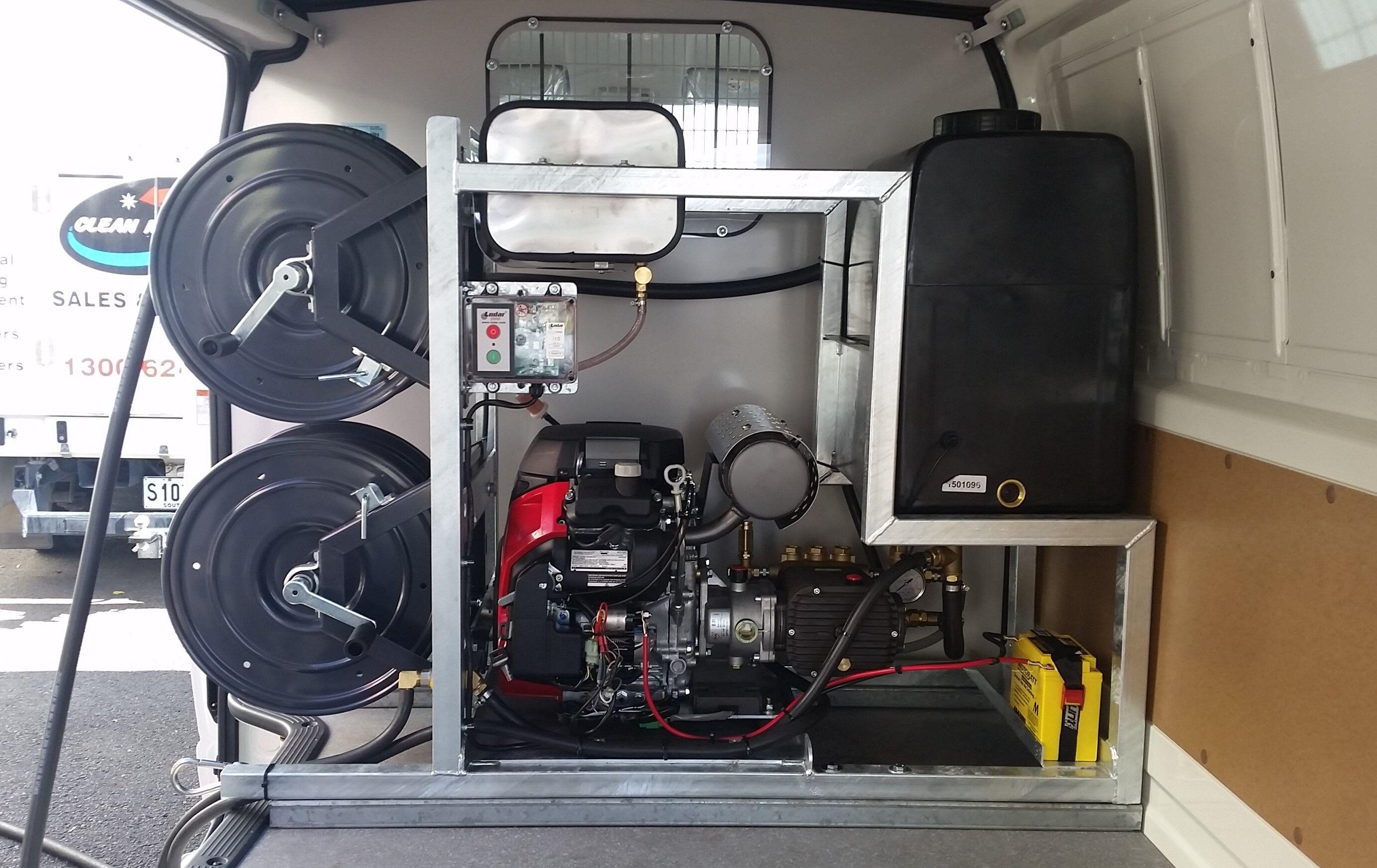Van-Mounted Drain/Hydro Jetter